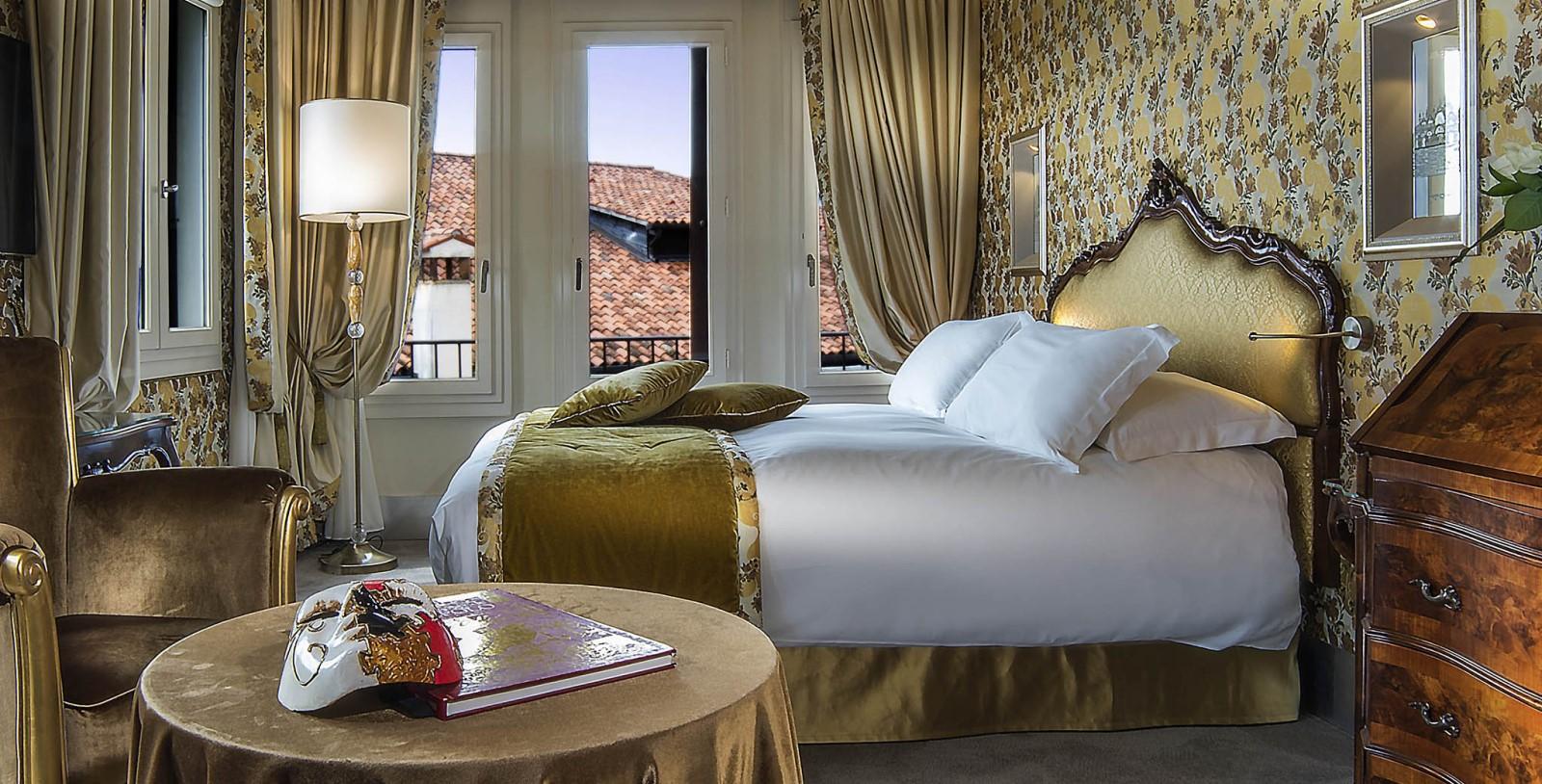 Image of Guestroom Interior, Hotel Papadopoli Venezia - MGallery by Sofitel, Venice, Italy ,1700s, Member of Historic Hotels Worldwide, Accommodations