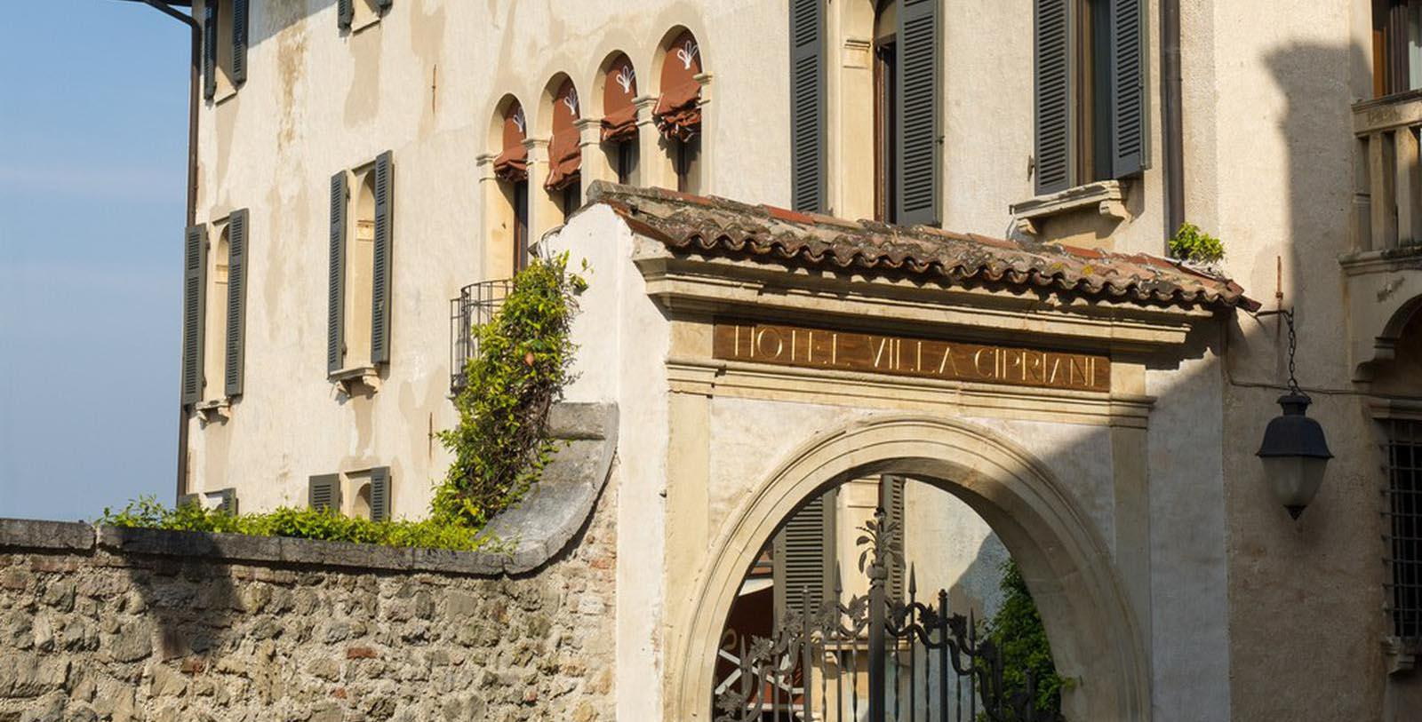 Image of Entrance Villa Cipriani, 1889, Member of Historic Hotels Worldwide, in Asolo, Italy, Discover