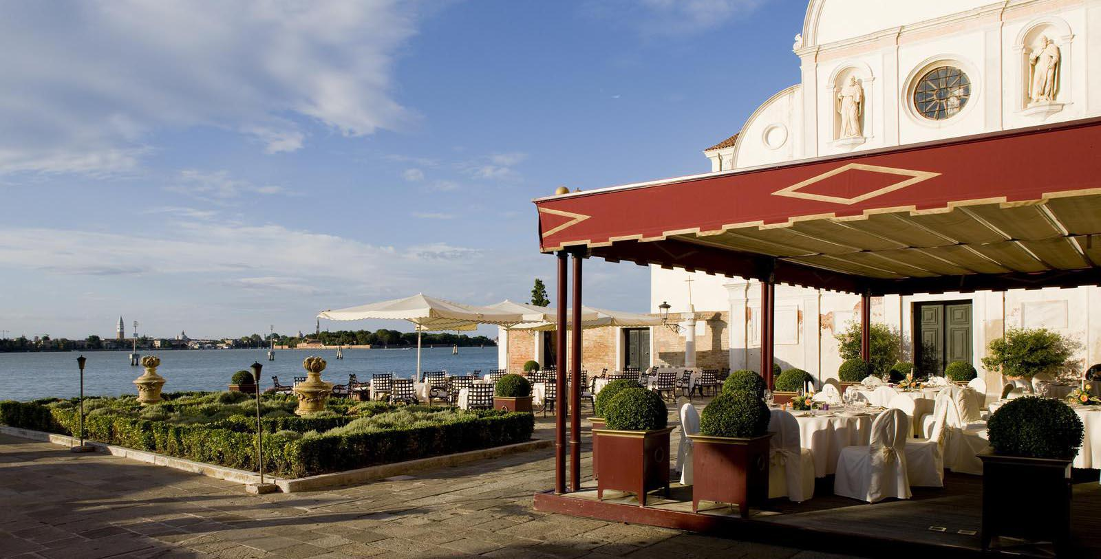 Image of Outdoor Dining Terrace at San Clemente Palace Kempinski, 1131, Member of Historic Hotels Worldwide, in Venice, Italy, Experience