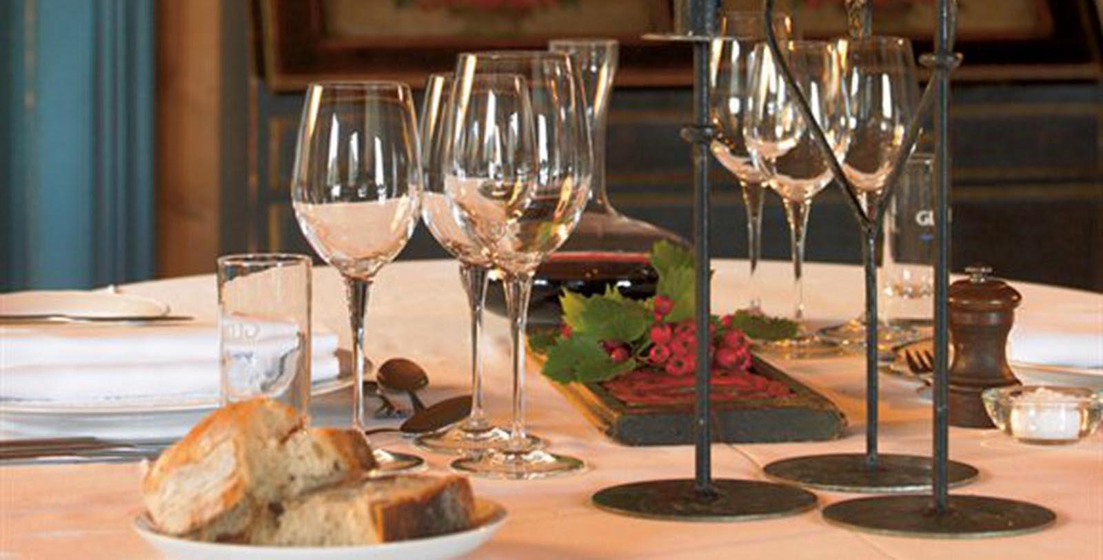 Image of Wine and Wine Glasses Fossheim Turisthotell, 1897, Member of Historic Hotels Worldwide, in Lom, Norway, Taste