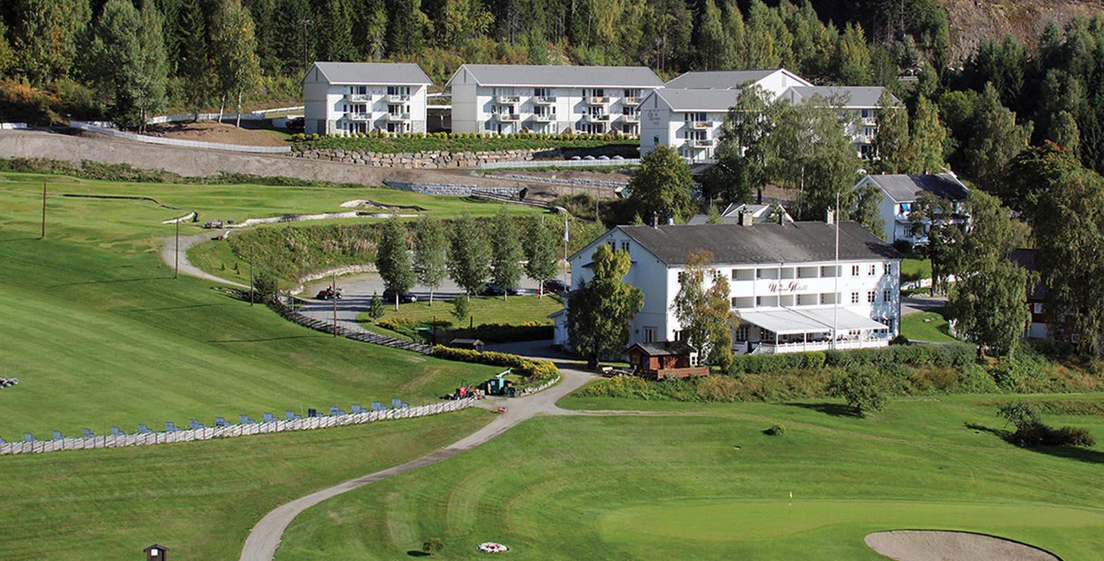 Image of Aerial View of Hotel Nermo Hotell & Apartments, 1442, Member of Historic Hotels Worldwide, in Oyer, Norway, Overview