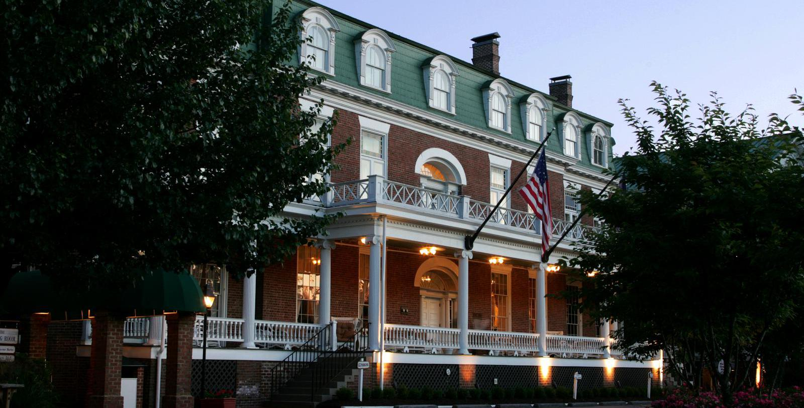 Image of Front Porch at The Martha Washington Hotel & Spa, 1832, Member of Historic Hotels of America, in Abingdon, Virginia, Discover