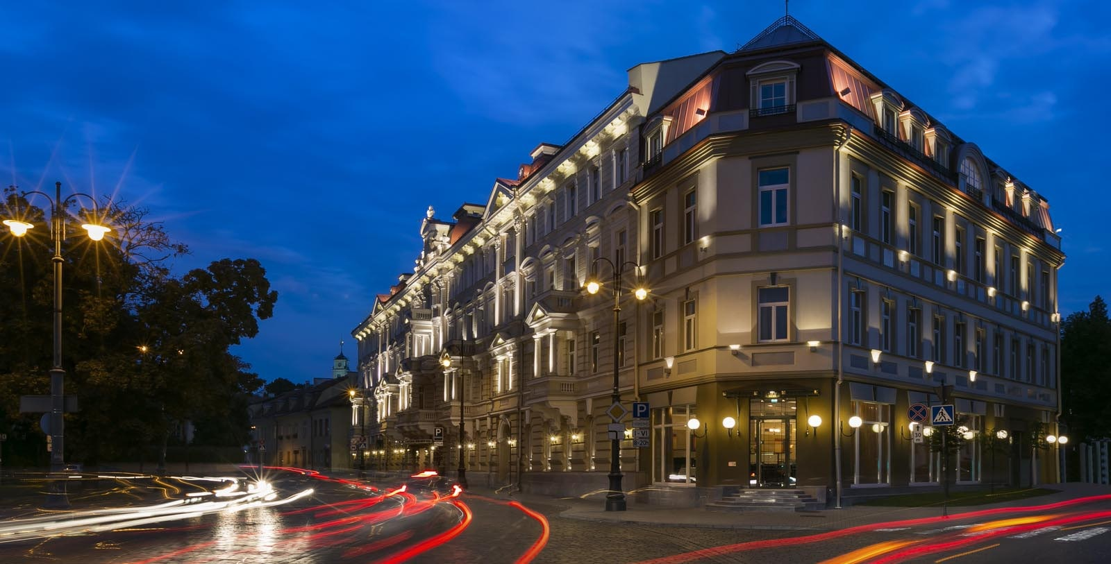 Image of Hotel Exterior Kempinski Hotel Cathedral Square, 1900, Member of Historic Hotels Worldwide, in Vilnius, Lithuania, Special Offers, Discounted Rates, Families, Romantic Escape, Honeymoons, Anniversaries, Reunions