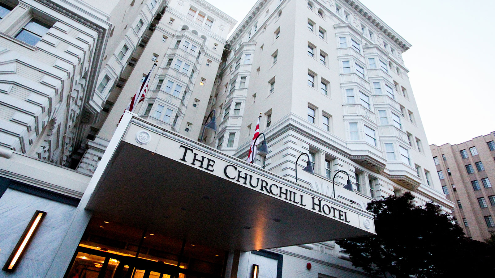 Image of Entrance The Churchill, 1906, Member of Historic Hotels of America, in Washington, DC, Overview