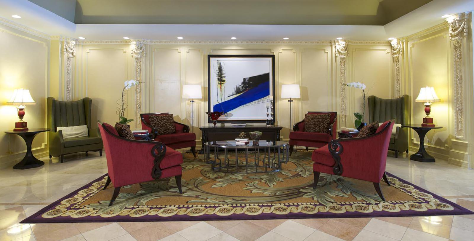 Image of Seating Area with Artwork The Churchill, 1906, Member of Historic Hotels of America, in Washington, DC, Explore