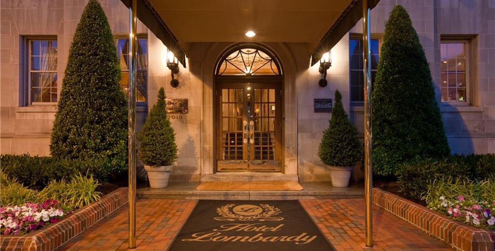 Image of Exterior at Night, Hotel Lombardy in Washington, DC, 1929, Member of Historic Hotels of America, Discover