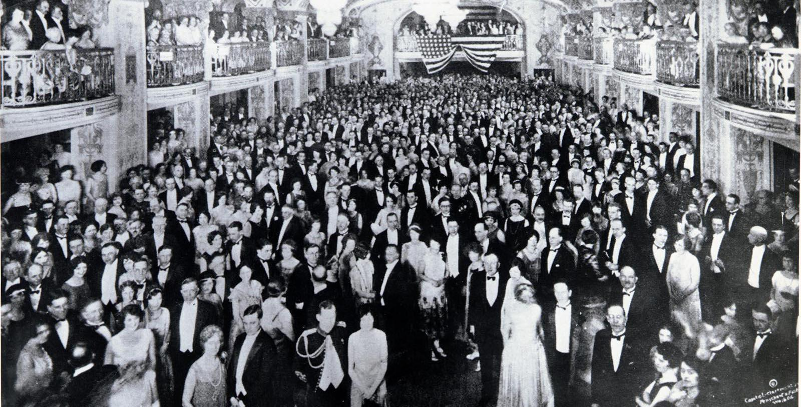 Historic Image of Grand Ballroom at The Mayflower Hotel, Autograph Collection, 1925, Member of Historic Hotels of America, in Washington, District of Columbia, Discover