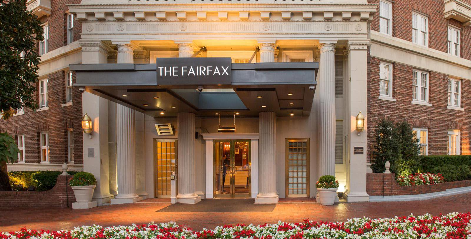 Image of Entrance The Fairfax at Embassy Row, 1927, Member of Historic Hotels of America, in Washington, DC, Special Offers, Discounted Rates, Families, Romantic Escape, Honeymoons, Anniversaries, Reunions