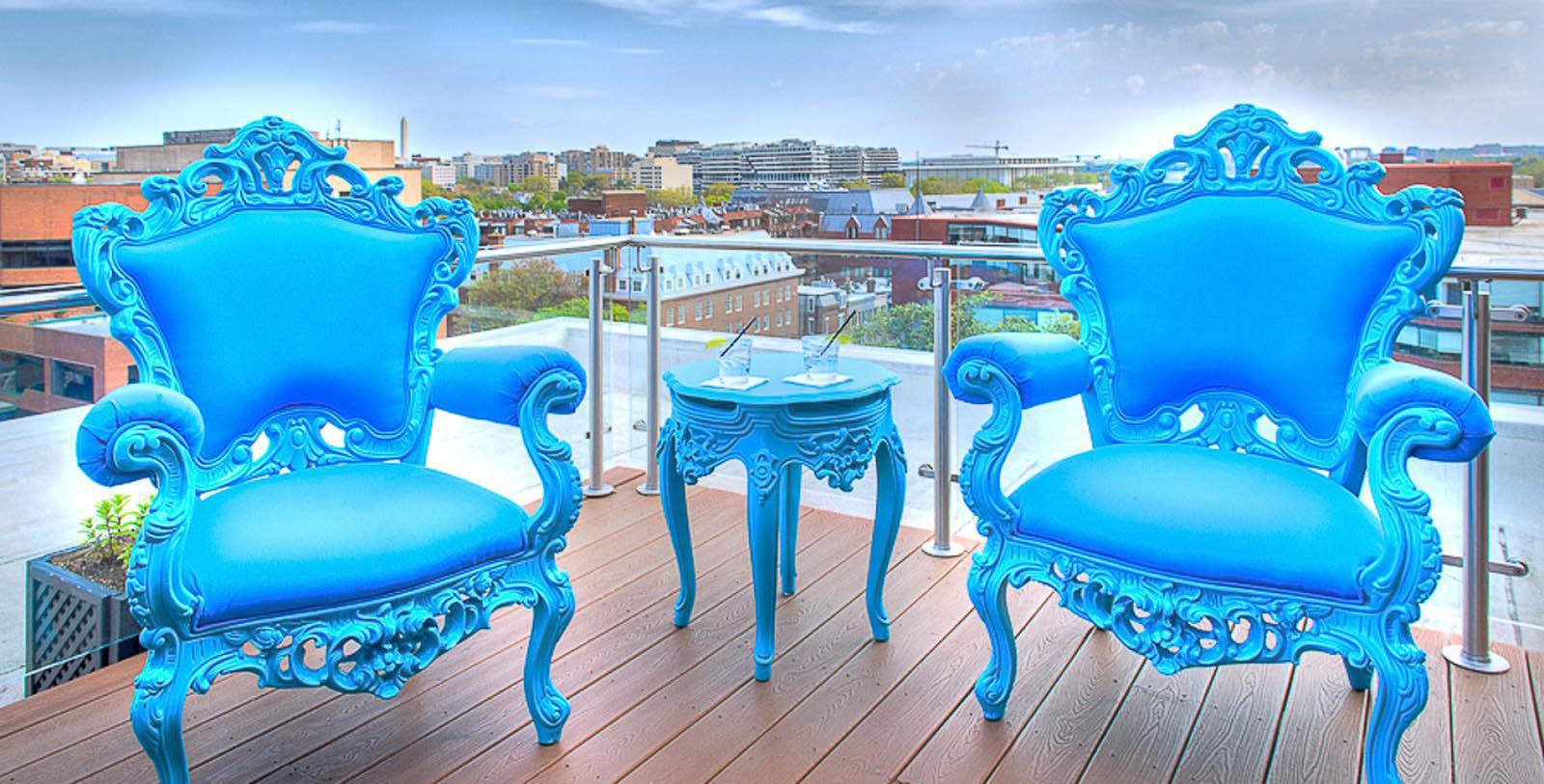 Image of Rooftop Seating Area The Graham Georgetown, Tapestry Collection by Hilton, 1962, Member of Historic Hotels of America, in Washington, DC, Experience