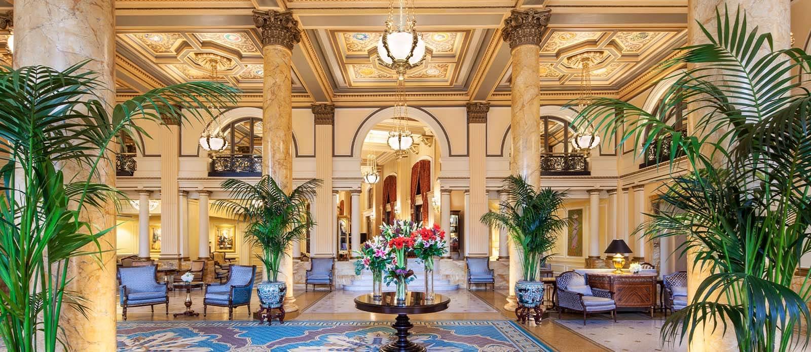 Discover the amazing interiors at the Willard InterContinental, Washington DC.