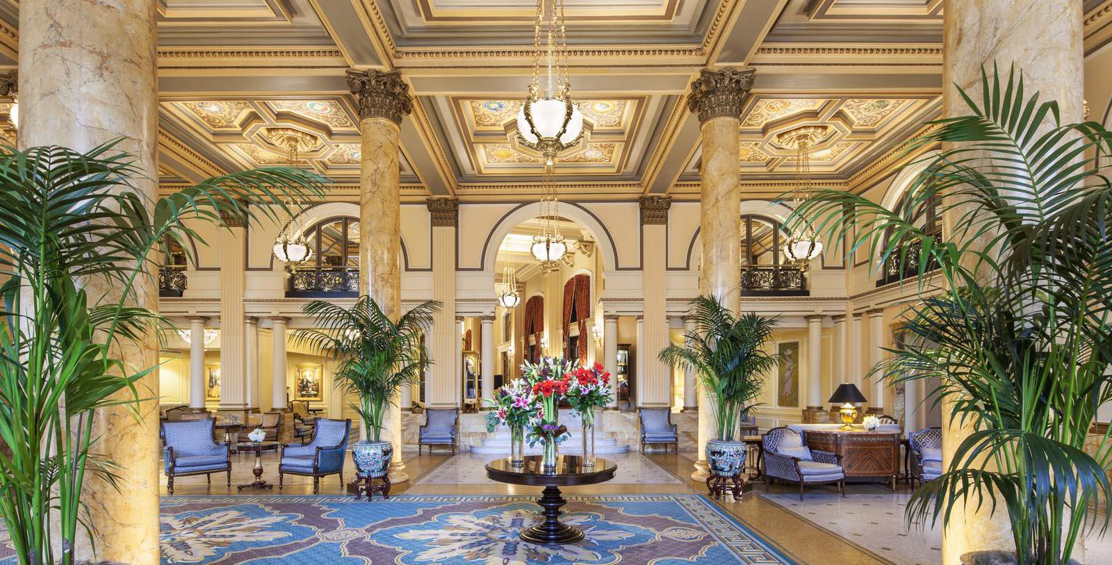 Image of hotel lobby The Willard InterContinental, Washington DC, 1847, Member of Historic Hotels of America, Explore