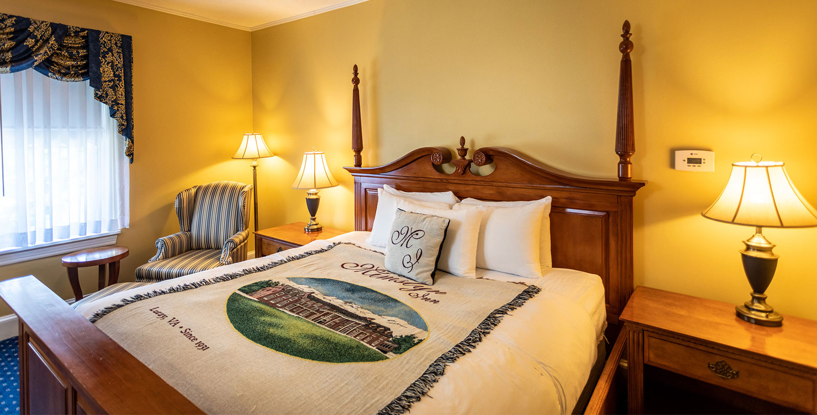 Image of Guestroom at The Mimslyn Inn, 1931, Member of Historic Hotels of America, in Luray, Virginia, Accommodations