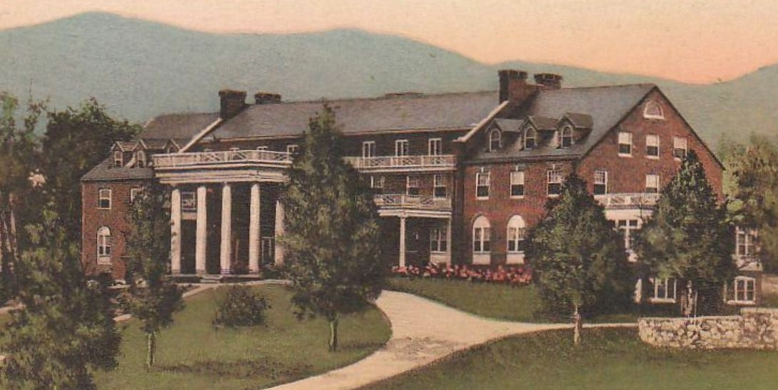 Historical Image of Exterior and Grounds, The Mimslyn Inn, 1931, Member of Historic Hotels of America, in Luray, Virginia