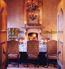 Dining at      Hacienda de los Santos  in Alamos
