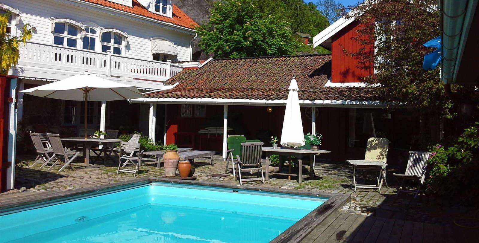 Image of outdoor seating area Det Lille Hotel, 1750, Member of Historic Hotels Worldwide, Risør, Norway, Explore