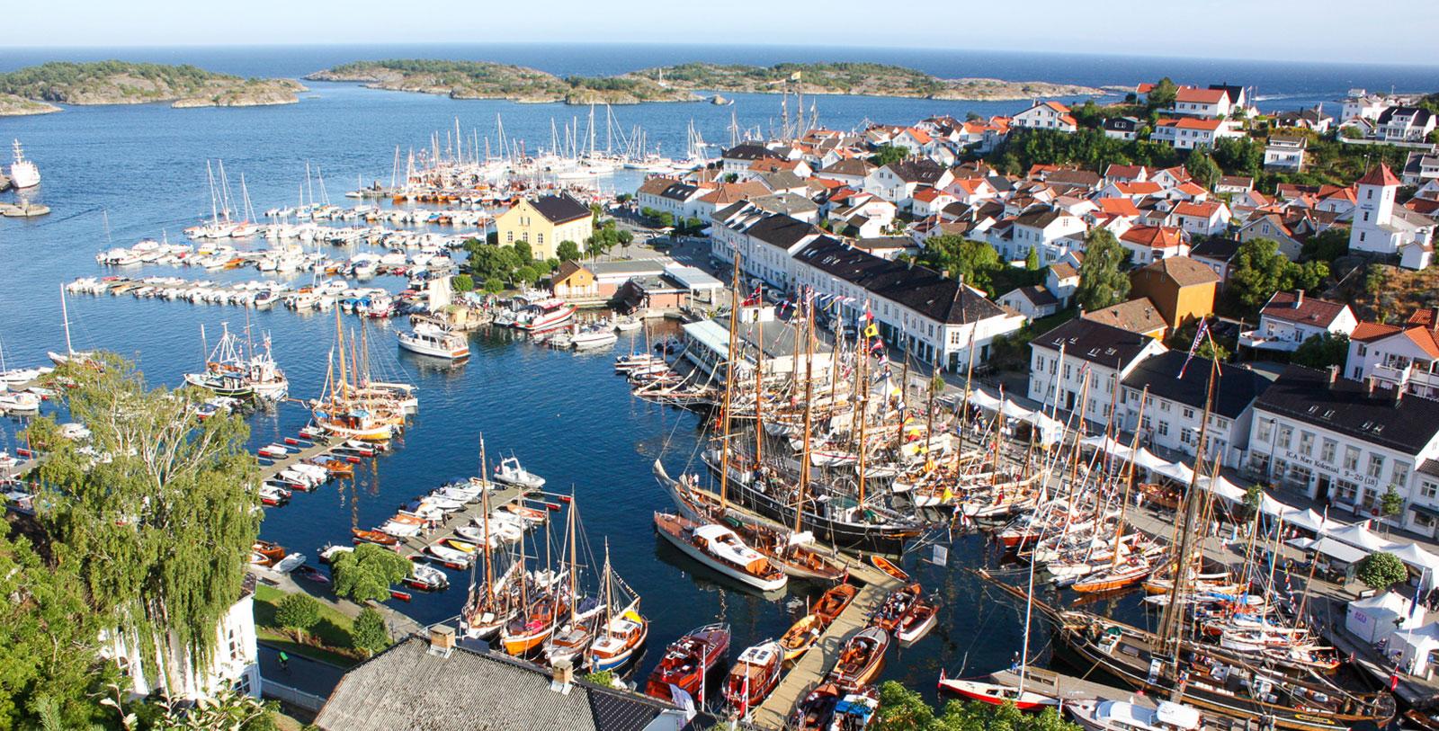 Image of Risør harbor, Det Lille Hotel, 1750, Member of Historic Hotels Worldwide, Risør, Norway, Explore