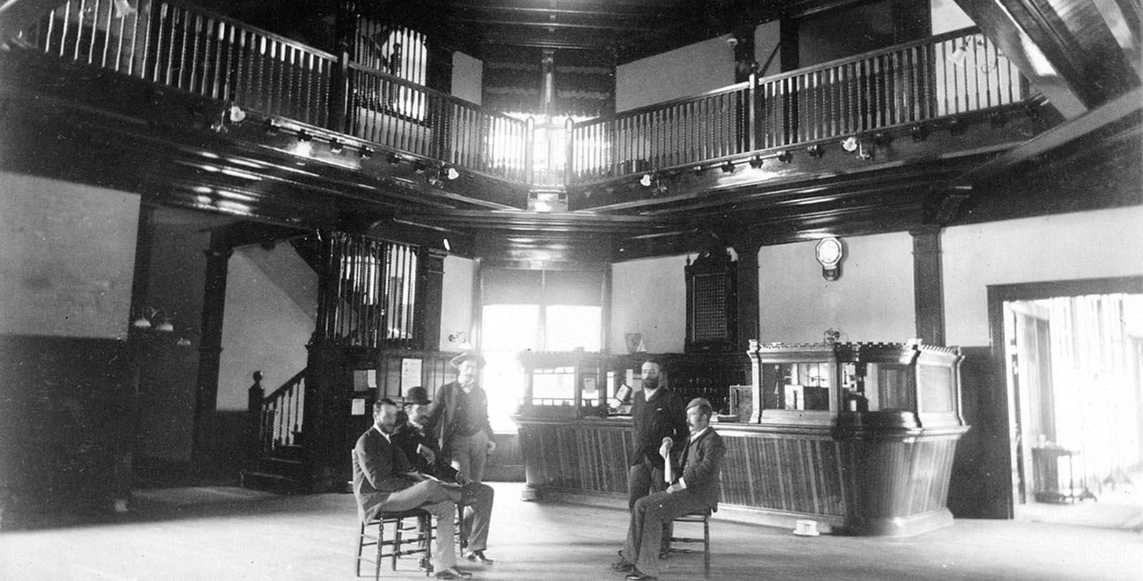 Historic image of hotel interior Fairmont Banff Springs, 1888, Member of Historic Hotels Worldwide, in Banff, Alberta, Canada, Discover