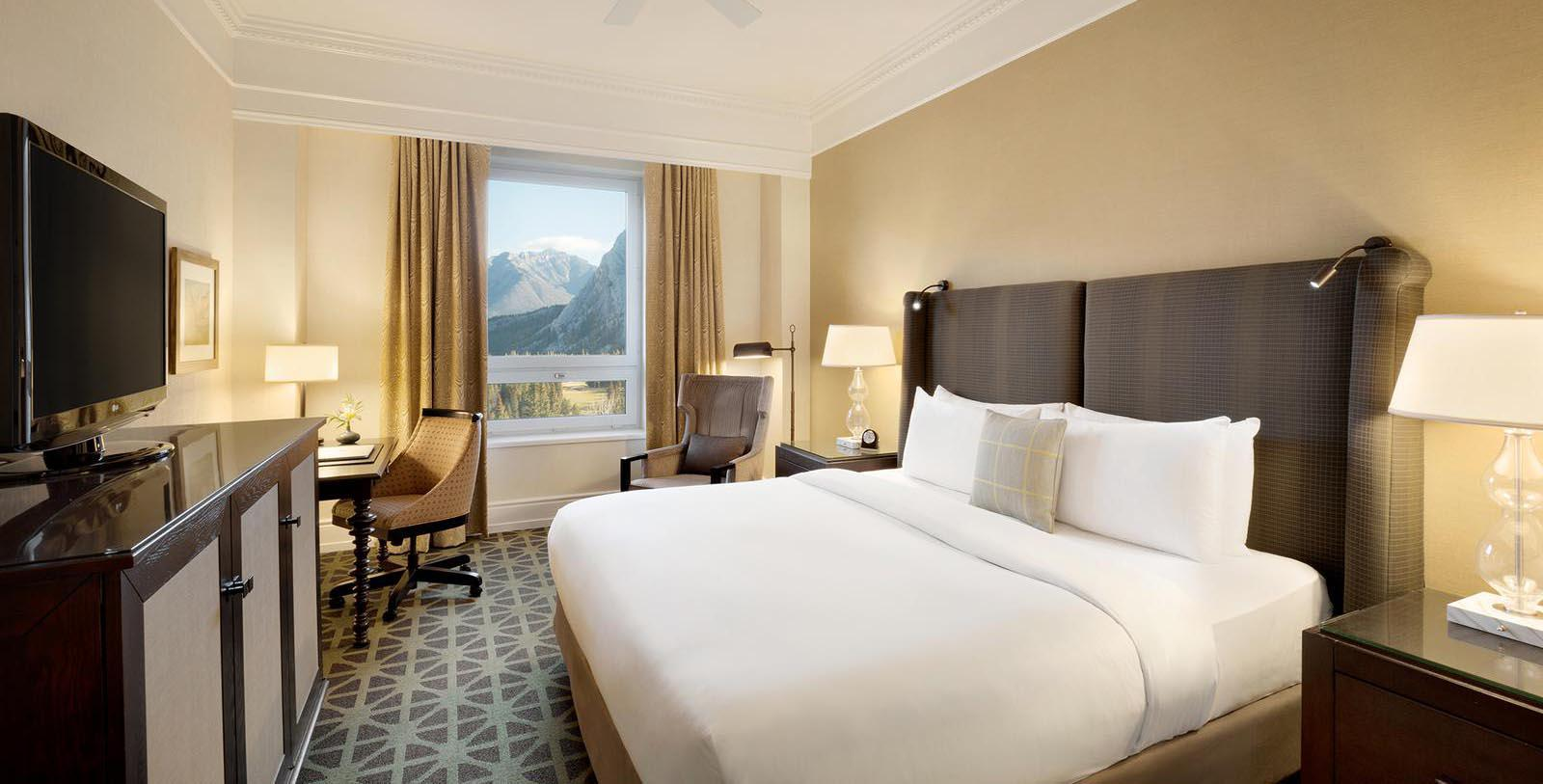 Image of guestroom Fairmont Banff Springs, 1888, Member of Historic Hotels Worldwide, in Banff, Alberta, Canada, Location Map
