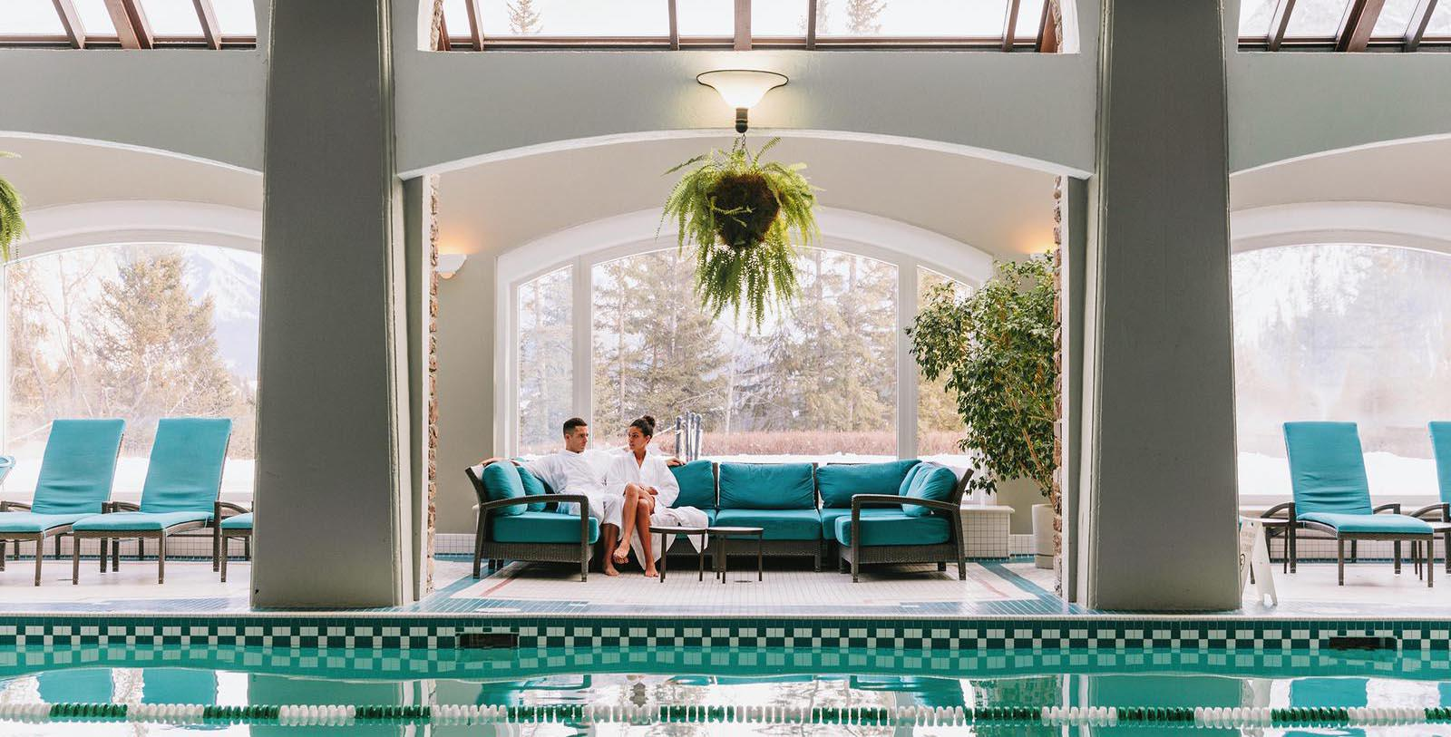 Image of spa pool area Fairmont Banff Springs, 1888, Member of Historic Hotels Worldwide, in Banff, Alberta, Canada, Explore