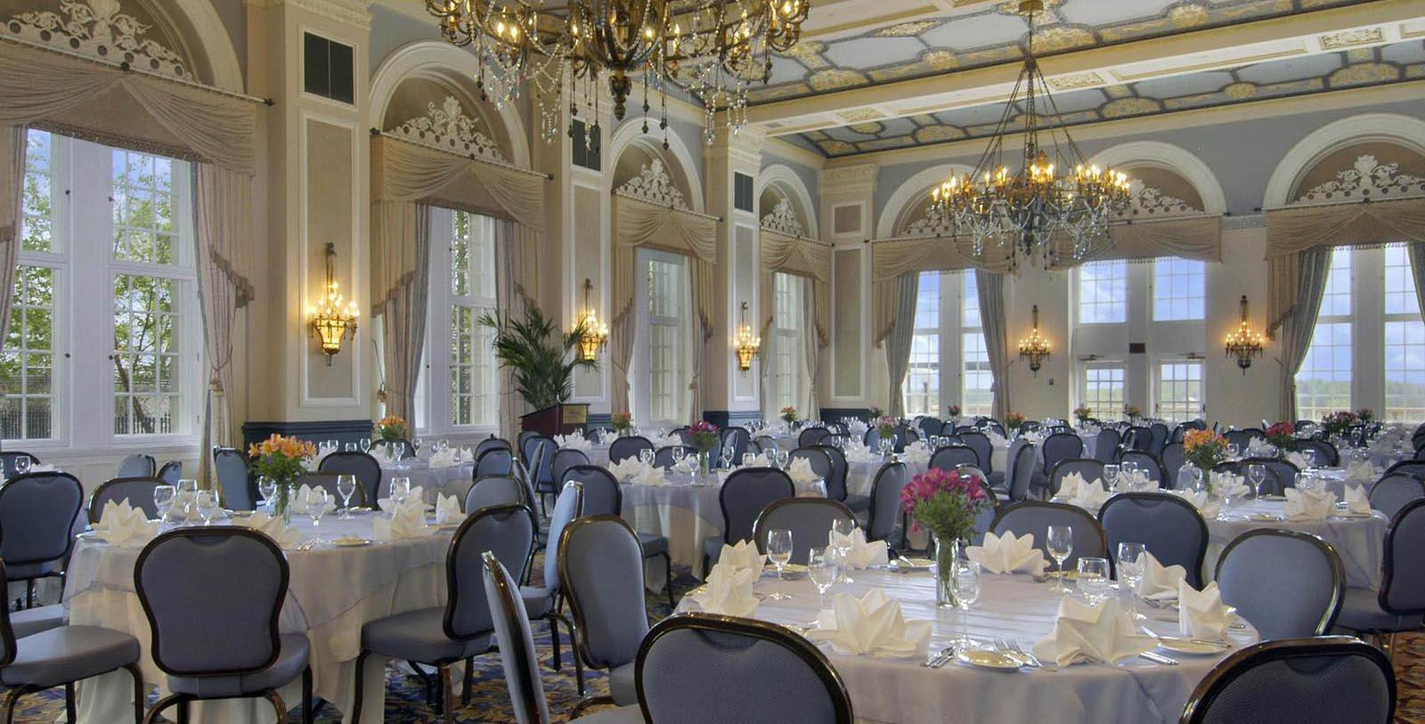 Image of ballroom set up for special event Fairmont Hotel Macdonald, 1915, Member of Historic Hotels Worldwide, in Edmonton, Canada, Experience
