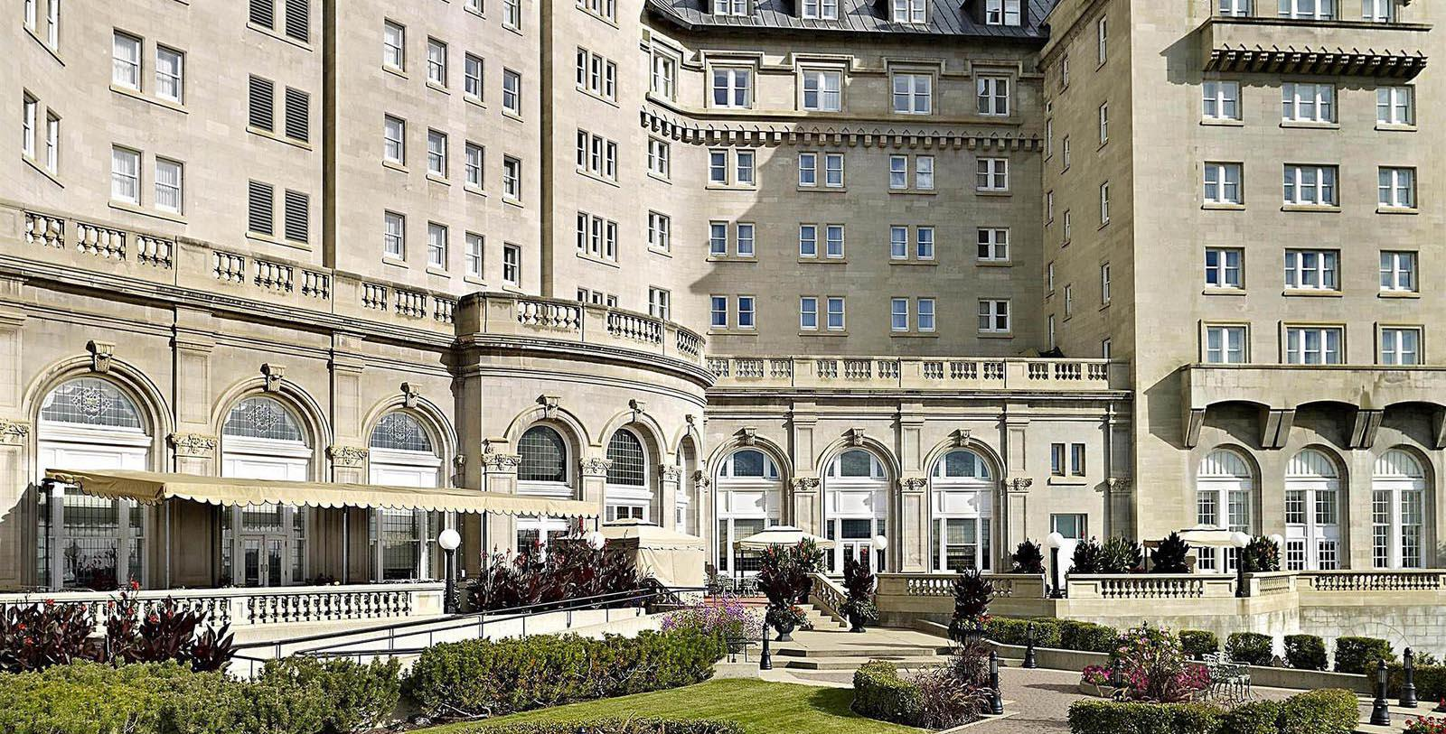 Image of hotel exterior Fairmont Hotel Macdonald, 1915, Member of Historic Hotels Worldwide, in Edmonton, Canada, Special Offers, Discounted Rates, Families, Romantic Escape, Honeymoons, Anniversaries, Reunions