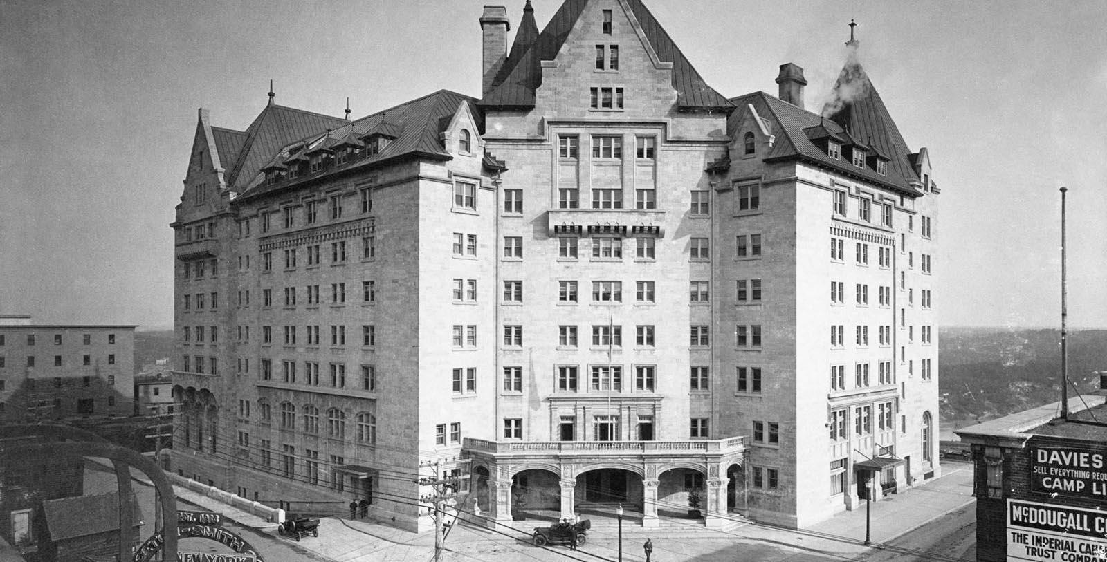Historic Exterior of Hotel Macdonald in Edmonton, Alberta, Canada