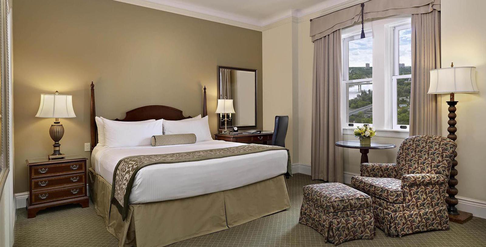 Image of guestroom Fairmont Hotel Macdonald, 1915, Member of Historic Hotels Worldwide, in Edmonton, Canada,Accommodations