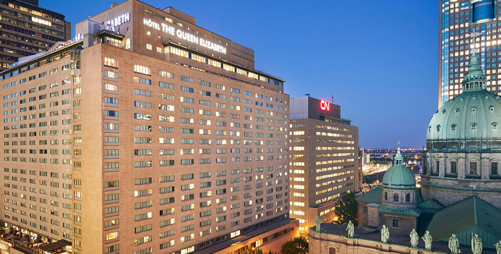 Image of Exterior Fairmont The Queen Elizabeth, 1958, Member of Historic Hotels Worldwide, in Montreal, Quebec, Discover