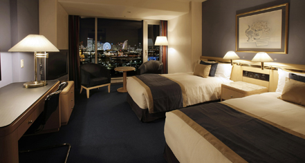Accommodations:      Hotel New Grand  in Yokohama