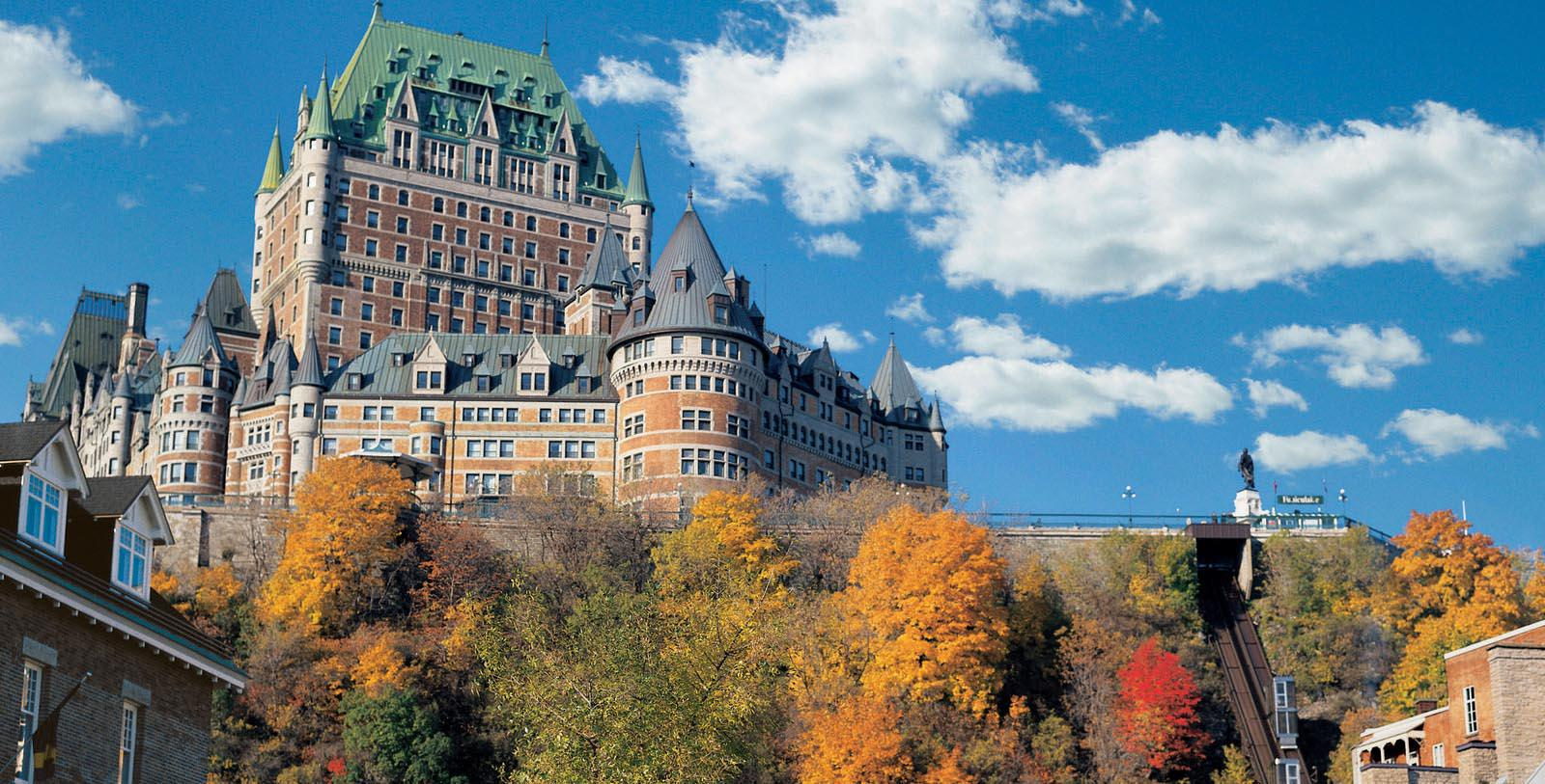 Image of Hotel Exterior Fairmont Le Château Frontenac, 1893, Member of Historic Hotels Worldwide, in Québec City, Quebec, Special Offers, Discounted Rates, Families, Romantic Escape, Honeymoons, Anniversaries, Reunions