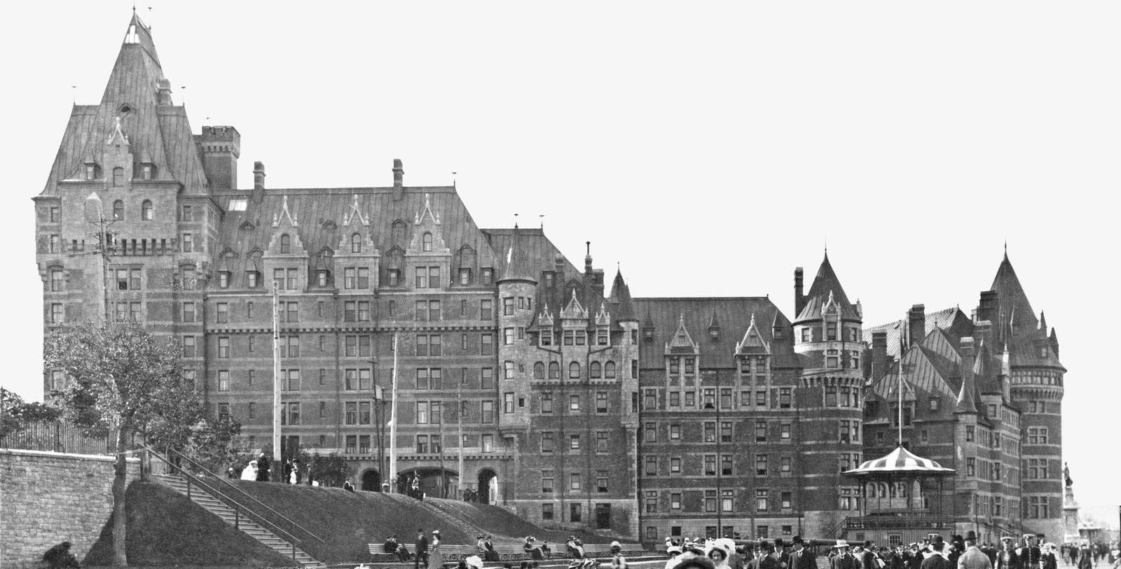 Historic Image of Hotel Exterior Fairmont Le Château Frontenac, 1893, Member of Historic Hotels Worldwide, in Québec City, Quebec, Discover