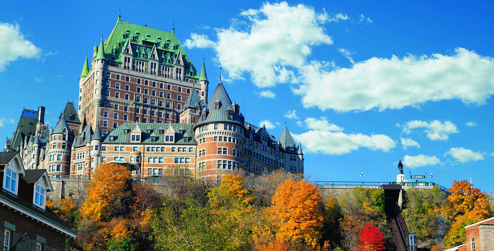 Image of Hotel Exterior Fairmont Le Château Frontenac, 1893, Member of Historic Hotels Worldwide, in Québec City, Quebec, Overview