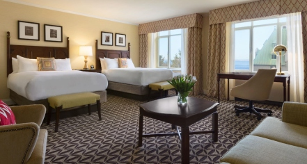 Accommodations:      Fairmont Le Manoir Richelieu  in Charlevoix