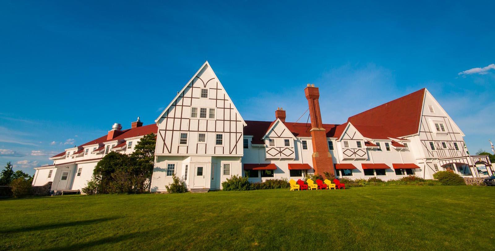 Image of Hotel Exterior Keltic Lodge Resort and Spa, 1940, Member of Historic Hotels Worldwide, in Ingonish Beach, Nova Scotia, Special Offers, Discounted Rates, Families, Romantic Escape, Honeymoons, Anniversaries, Reunions