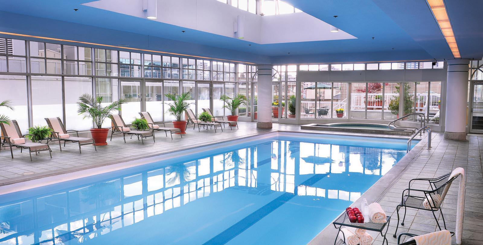 Image of indoor pool at Fairmont Hotel Vancouver, 1939, Member of Historic Hotels Worldwide, in Vancouver, Canada, Hot Deals