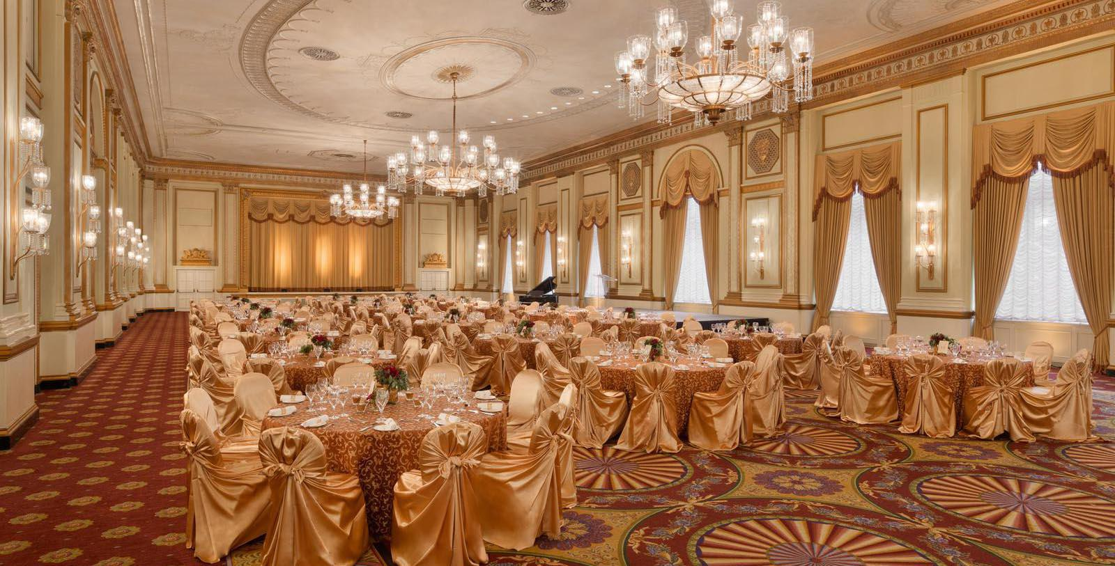Image of ballroom set up for wedding Fairmont Hotel Vancouver, 1939, Member of Historic Hotels Worldwide, in Vancouver, Canada, Special Occasions