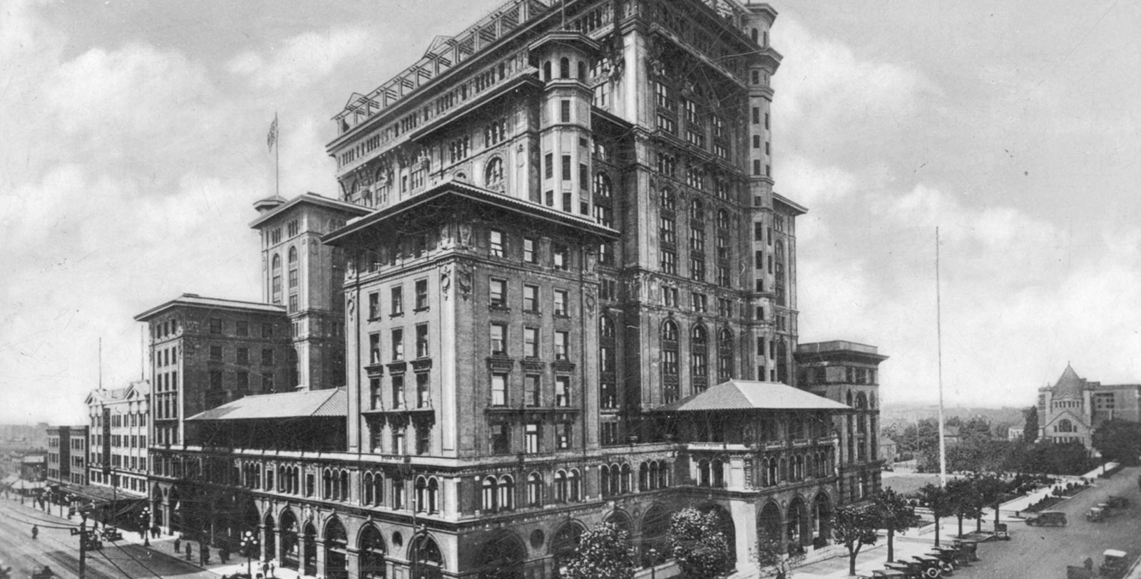 Image of people outside hotel, Fairmont Hotel Vancouver, 1939, Member of Historic Hotels Worldwide, Vancouver, British Columbia, Canada, Ghost Story