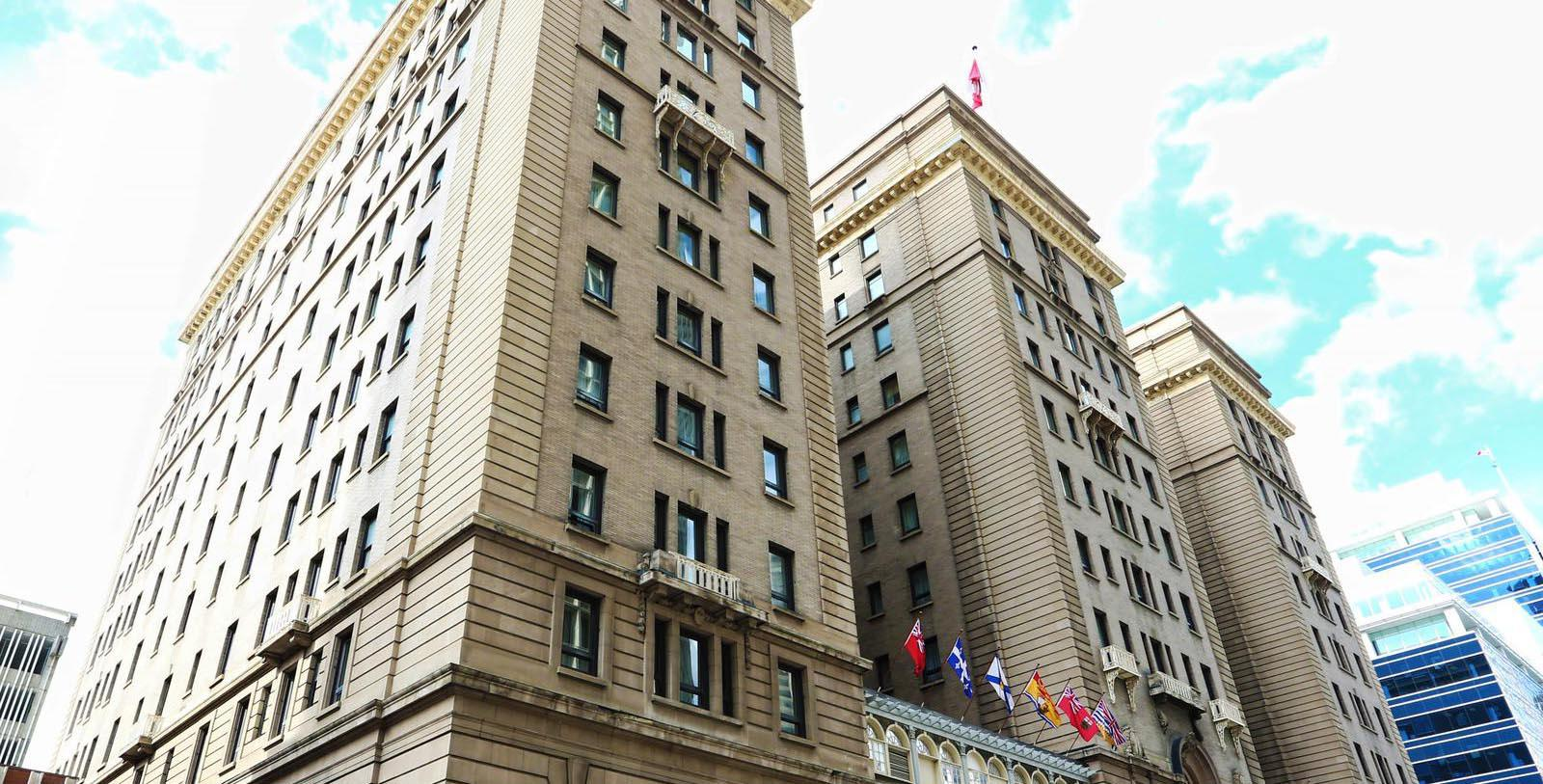 Image of Hotel Exterior, Fairmont Palliser, 1914, Member of Historic Hotels Worldwide, in Calgary, Alberta, Special Offers, Discounted Rates, Families, Romantic Escape, Honeymoons, Anniversaries, Reunions