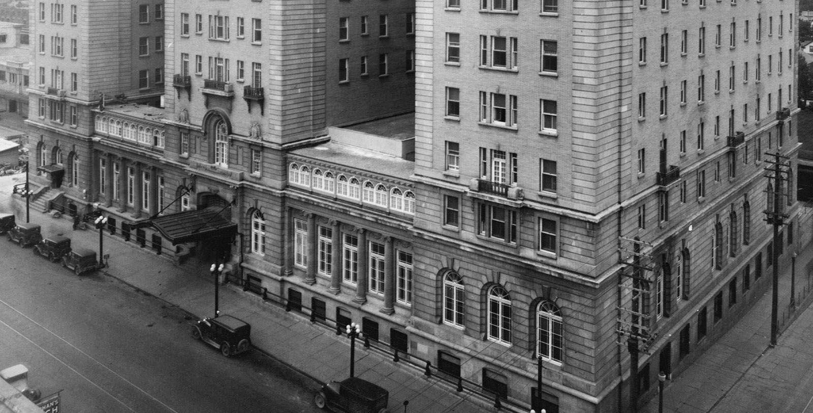 Historic Image of Hotel Exterior Fairmont Palliser, 1914, Member of Historic Hotels Worldwide, in Calgary, Alberta, Discover