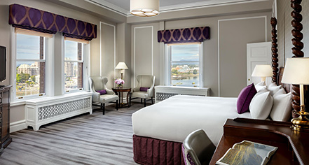 Accommodations:      Fairmont Empress  in Victoria
