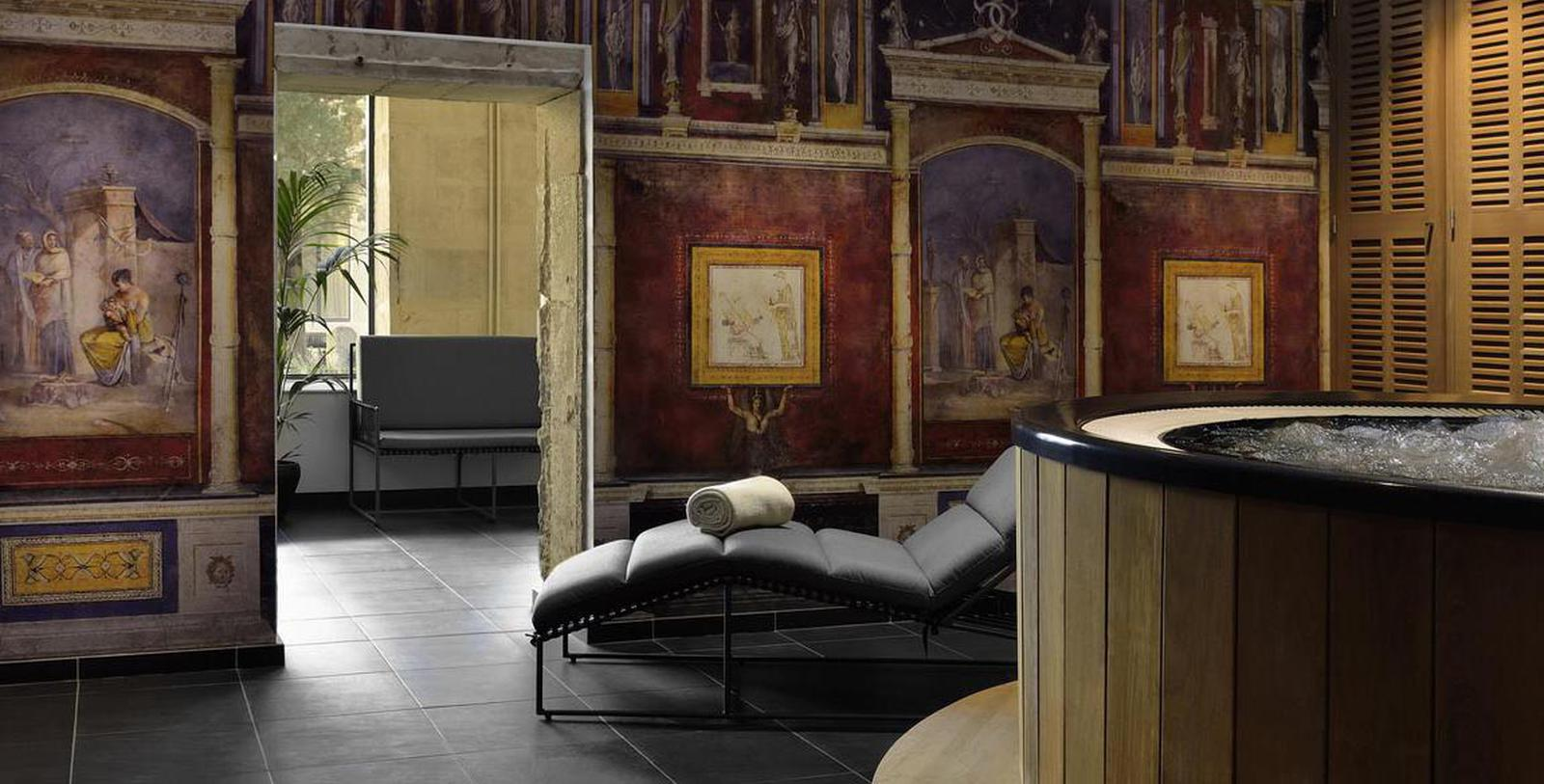 Image of Entance Hôtel & Spa Jules César Arles – MGallery by Sofitel, 1661, Member of Historic Hotels Worldwide, in Arles, France, Spa