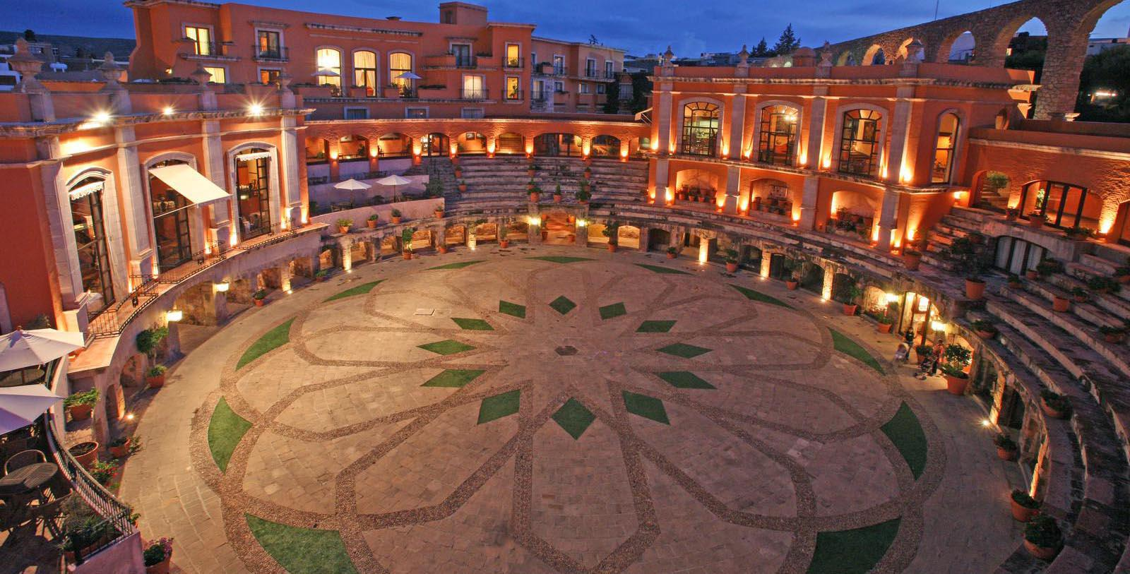 Image of Courtyard Quinta Real Zacatecas, 1866, Member of Historic Hotels Worldwide, in Zacatecas, Mexico, Special Offers, Discounted Rates, Families, Romantic Escape, Honeymoons, Anniversaries, Reunions