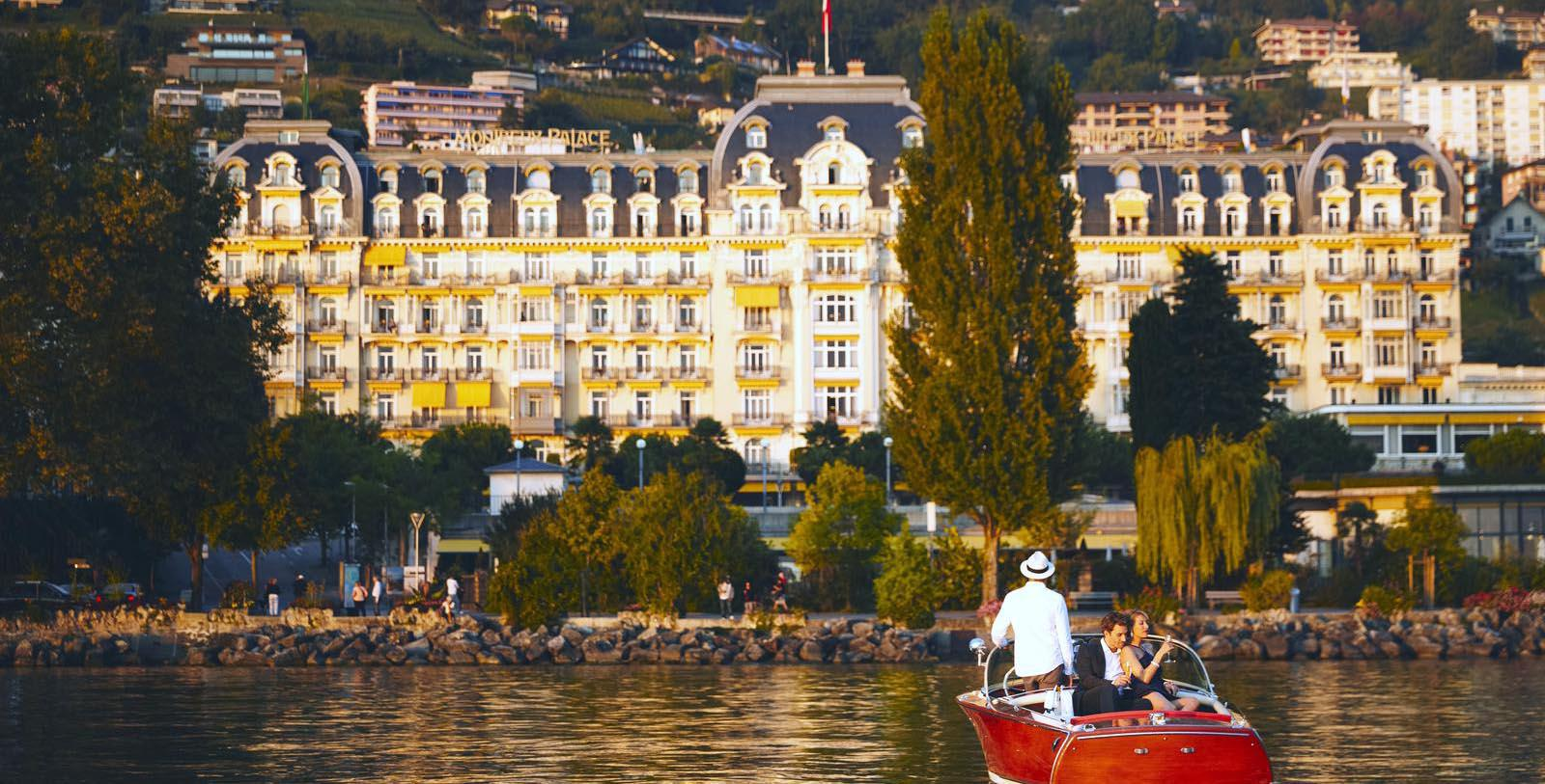 Image of Hotel Exterior Sitting by Pool Fairmont Le Montreux Palace, 1906, Member of Historic Hotels Worldwide, in Montreux, Switzerland, Discover