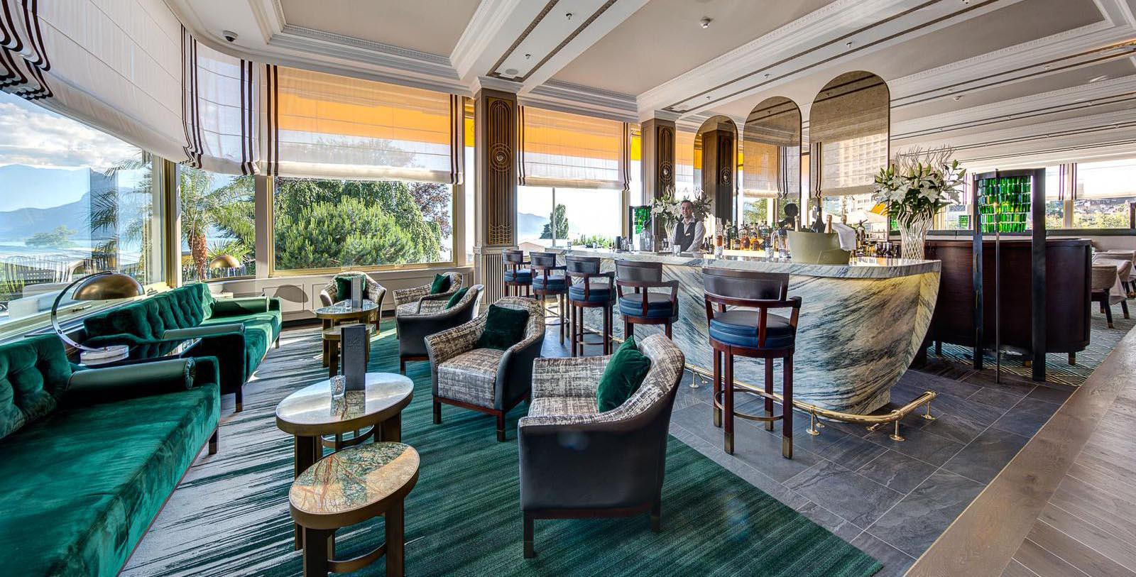 Image of Bar Fairmont Le Montreux Palace, 1906, Member of Historic Hotels Worldwide, in Montreux, Switzerland, Taste