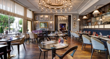 Dining at      Fairmont Le Montreux Palace  in Montreux