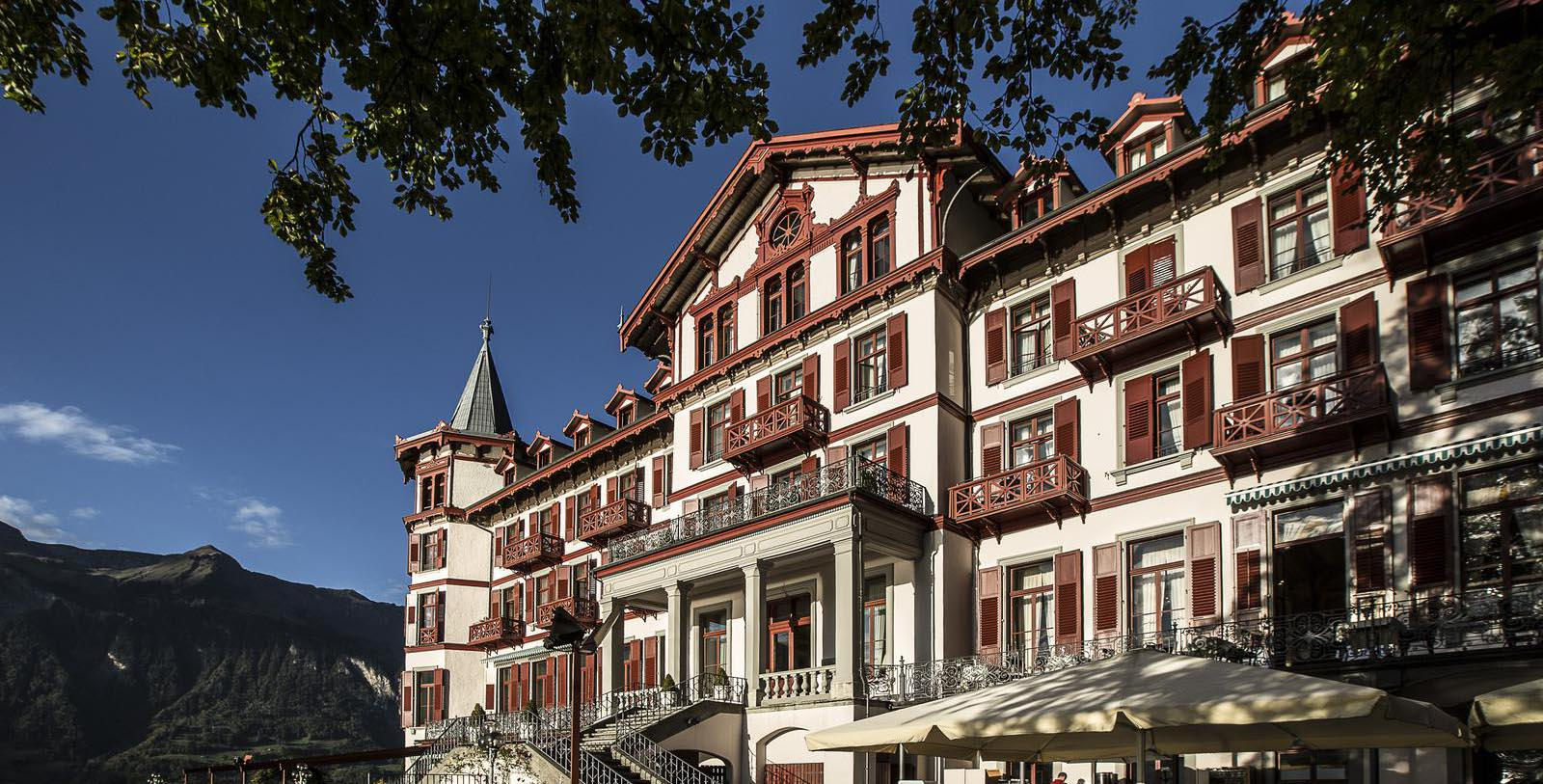 Image of Hotel Exterior, Grandhotel Giessbach, Brienz, Switzerland, 1822, Member of Historic Hotels Worldwide, Overview