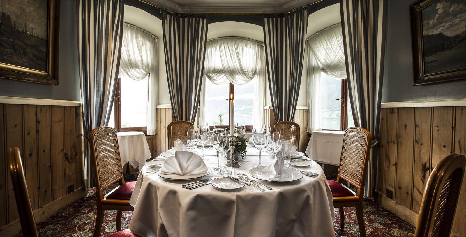 Image of Restaurant Les Cascades, Grandhotel Giessbach, Brienz, Switzerland, 1822, Member of Historic Hotels Worldwide, Taste