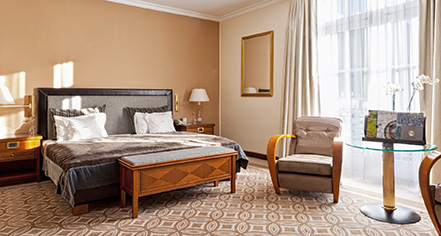 Accommodations:      Kempinski Grand Hotel des Bains St. Moritz  in St. Moritz