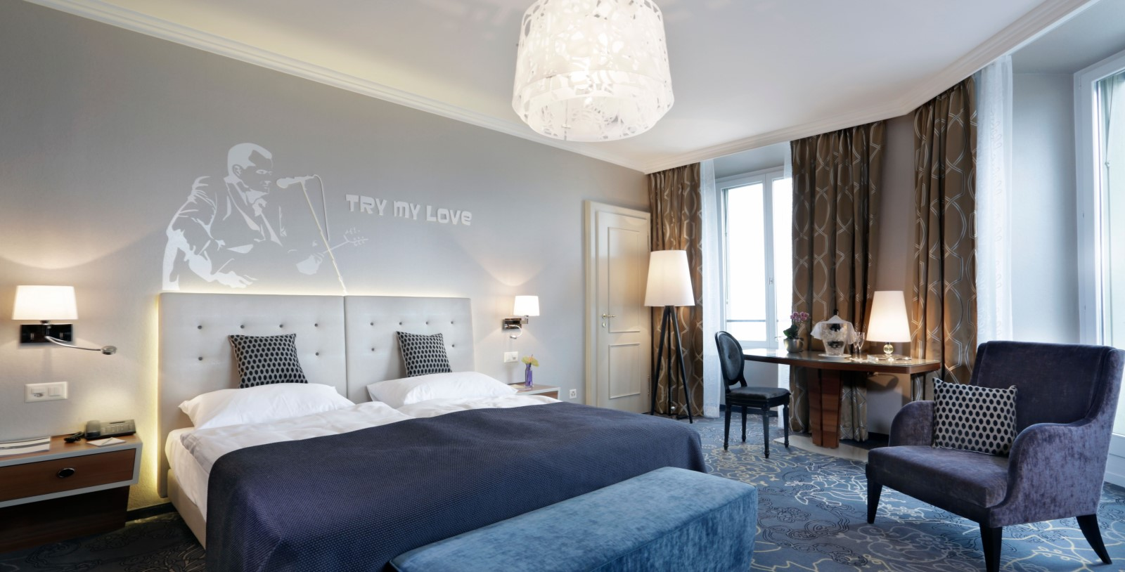 Image of Guestroom Interior, Hotel Schweizerhof Luzern, Switzerland, 1845, Member of Historic Hotels Worldwide, Accommodations