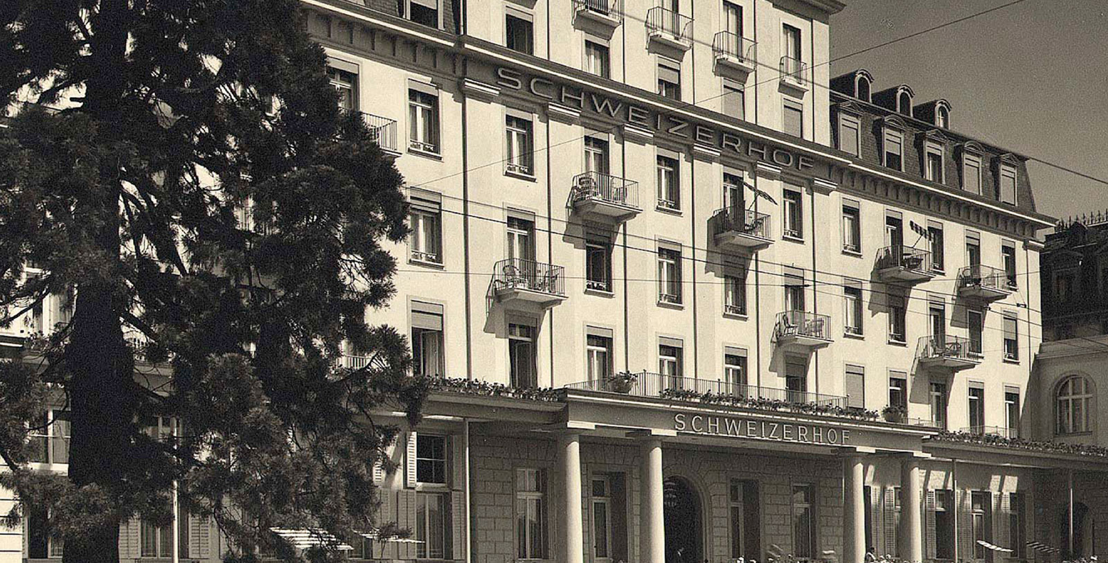 Image of Historic Exterior, Hotel Schweizerhof Luzern, Switzerland, 1845, Member of Historic Hotels Worldwide, Discover